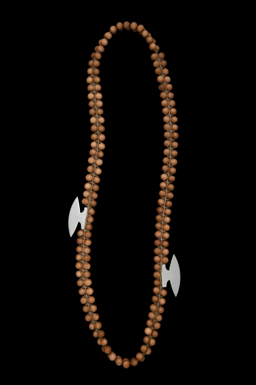 Sandalwoods big beads and stainless steel