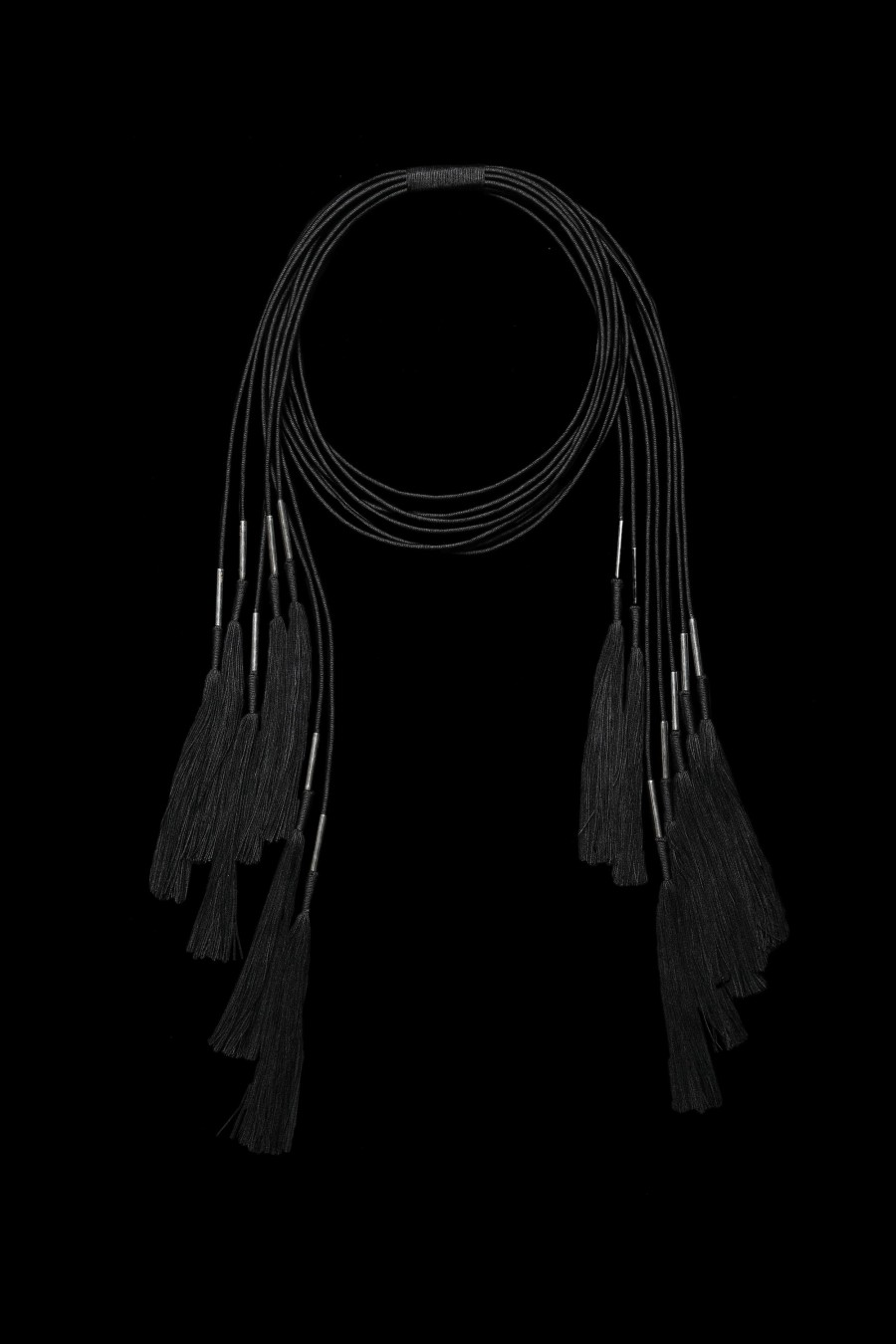 Black thread and stainless steel