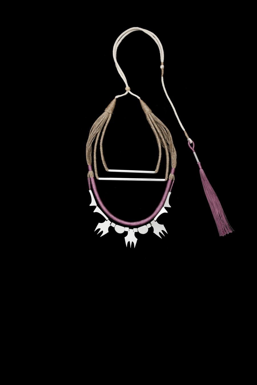 Jute geisha thread and stainless steel